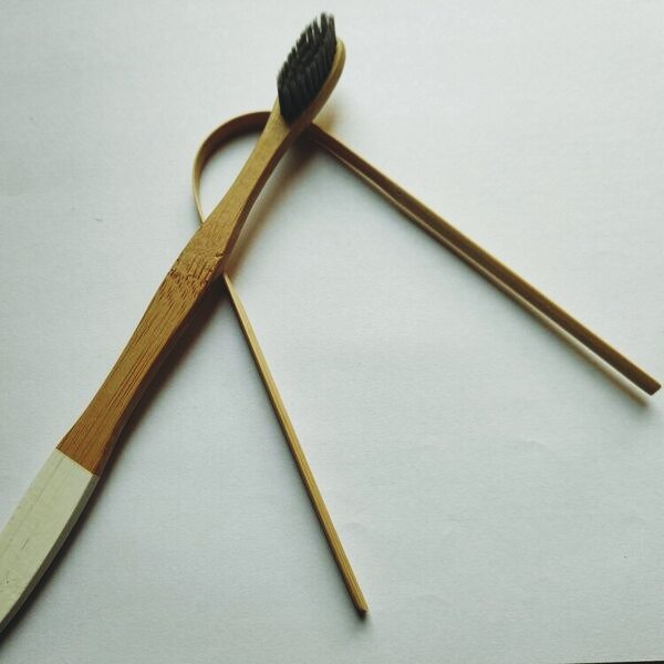 Wooden brush and tongue cleaner OrganicDukaan