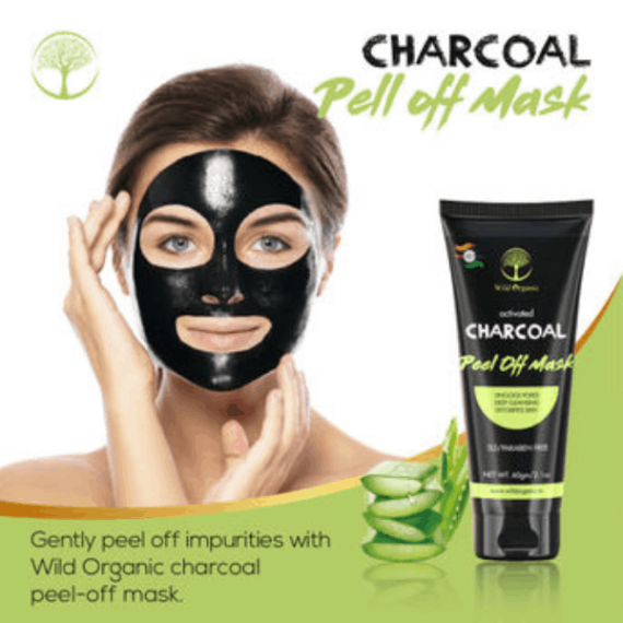 Wild Organic Activated Charcoal Peel off Mask OrganicDukaan